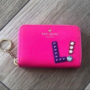 "KATE SPADE Hartley Lane Cassidy ""L"" Pink K…"